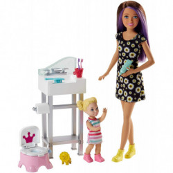 Barbie Babysitter Playset...